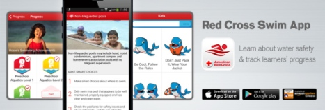 red cross swim app
